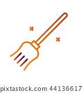 Broom LineGradient illustration 44136617
