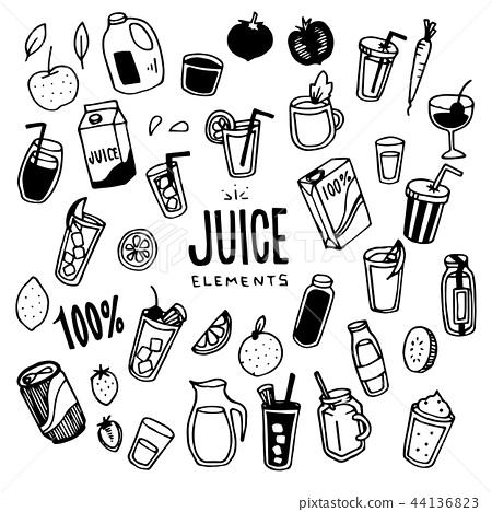 Juice Illustration pack 44136823