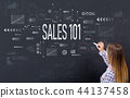 Sales 101 with young woman 44137458