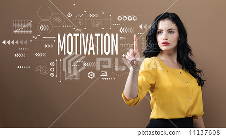 Motivation text with business woman 44137608