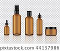 Mock up Realistic Amber Transparent Glass Bottle 44137986