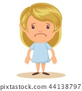 Girl crying gesture 44138797
