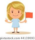 flag, child, girl 44139093
