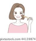 화장을하는 여성 브러쉬 티크 파운데이션 44139874