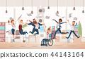 happy, illustration, jumping 44143164