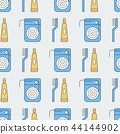 Seamless pattern with floss and paste 44144902