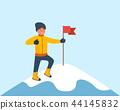 mountaineer, top, flag 44145832
