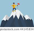mountaineer, top, flag 44145834