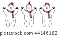 bear vector polar bear Christmas Santa Claus Xmas  44146182