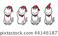 cat vector Christmas Santa claus hat Xmas icon kit 44146187