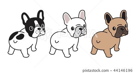 dog vector french bulldog logo icon cartoon cute 44146196