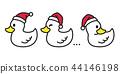 duck vector Christmas vector Santa claus Xmas icon 44146198