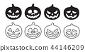 pumpkin vector Halloween icon logo ghost character 44146209