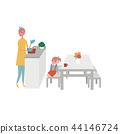 廚房膳食準備婦女例證 44146724