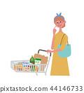 購物車婦女例證 44146733
