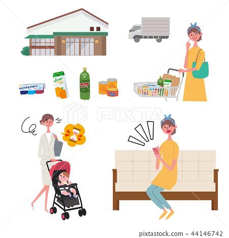 超市淨超市女人購物 44146742