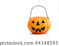 plastic jack-o-lantern on white 44148565