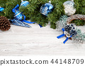Christmas background with decorations 44148709