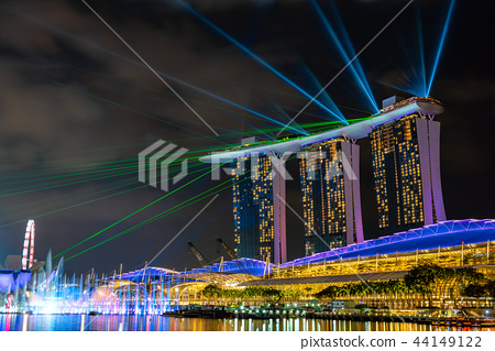 Laser show of Singapore · Marina Bay Sands Hotel 44149122