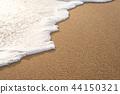 Soft wave on sandy beach 44150321