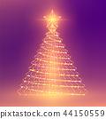 Christmas Tree with Star wireframe polygon light 44150559