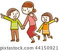 微笑的家庭手拉的樣式 44150921