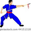 Wushu Boy Chinese Martial Art Vector Illustration 44151318