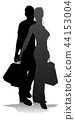 silhouette, people, shopping 44153004