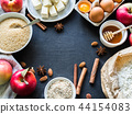 set of ingredients for apple pie  44154083