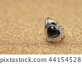 diamond ring and black gemstone 44154528