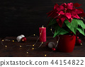 Christmas still life poinsettia and decorations 44154822