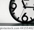 Modern minimalistic wall clock, copy space 44155462