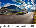 Family vacation travel, holiday trip in motorhome 44157906
