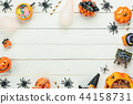 Table top view decoration Happy Halloween day. 44158731