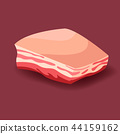 Meat vector - lard. Fresh vector meat icon. 44159162