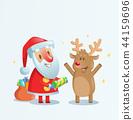 santa, christmas, reindeer 44159696