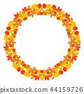 vector frame mandala fall autumn leaves 44159726