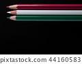 color pencils on black background close up.. 44160583
