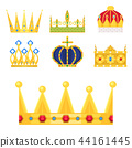 Crown king vintage premium white badge heraldic ornament luxury kingdomsign vector illustration. 44161445