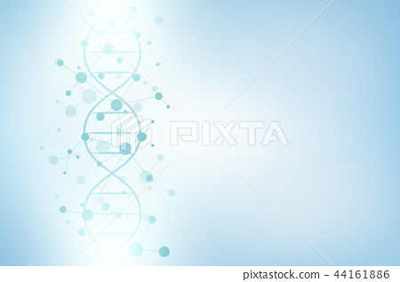 DNA helix and molecular structure. Science and technology concept with molecules background. 44161886