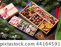 Christmas food decor and gingerbread cookies 44164591