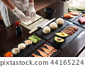 Process of preparing rolling sushi 44165224