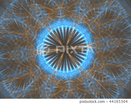 Unique kaleidoscope design. abstract fractal 44165304