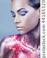 face, makeup, woman 44165320