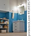 modern bathroom corner with mirror 44165957