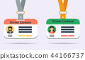 Vector drivers license of man and woman isolated 44166737