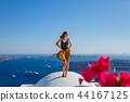 Young, beautiful woman in Greece 44167125