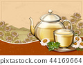 Organic chamomile tea ads 44169664