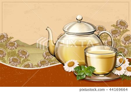 Organic chamomile tea ads 44169664