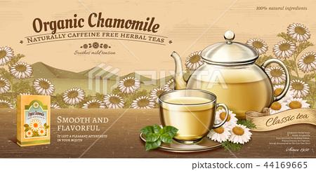 Organic chamomile tea ads 44169665